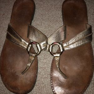 Lilly Pulitzer gold sandals size 7